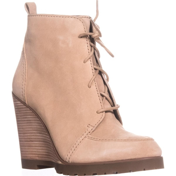 MICHAEL Michael Kors Piper Lace Wedge Ankle Boots, Dark Khaki