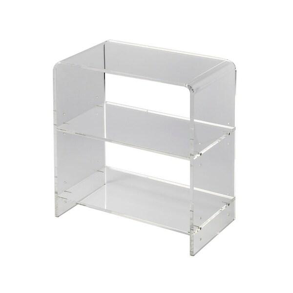 Modern Crystal Clear Acrylic Rectangular Bookcase