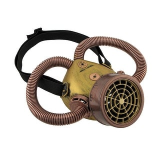 Antique Copper and Brass Finish Respirator w/Corrugated Tubes