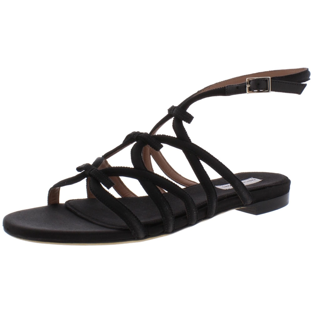 Tabitha Simmons Womens Stevie Suede Ribbon Open Toe Heels Sandals BHFO 8732
