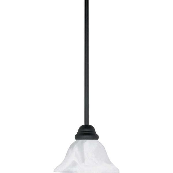 "Nuvo Lighting 60/386 1-Light 7-1/4"" Wide Mini Pendant - Textured Black - n/a"