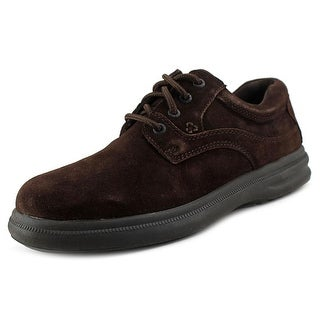 Hush Puppies Glen Men EW Round Toe Suede Brown Oxford