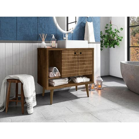 Liberty 31.49 Bathroom Vanity with Sink and 2 Shelves