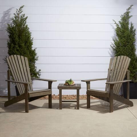 Meadowlark Outdoor Patio Wood 3-Piece Conversation Set
