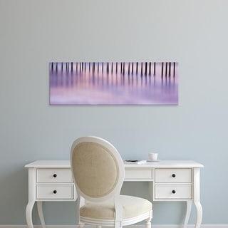 Easy Art Prints Panoramic Image 'Pier Pilings protude from sea, Gaviota  Park, Santa Barbara, California' Canvas Art