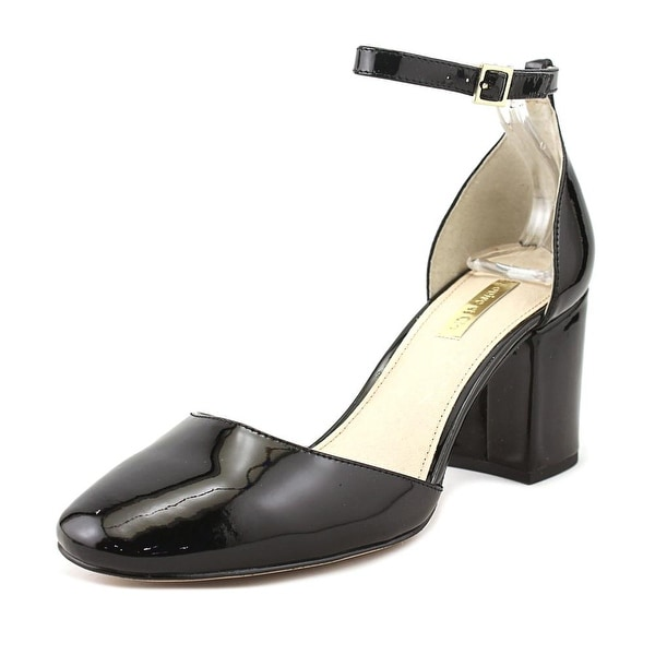 Louise et Cie Idina Women Round Toe Patent Leather Black Heels