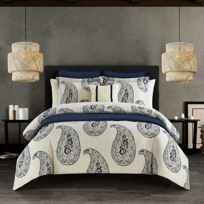 Chic Home Mckenna 12-Piece Comforter & Quilt Set Bed In a Bag