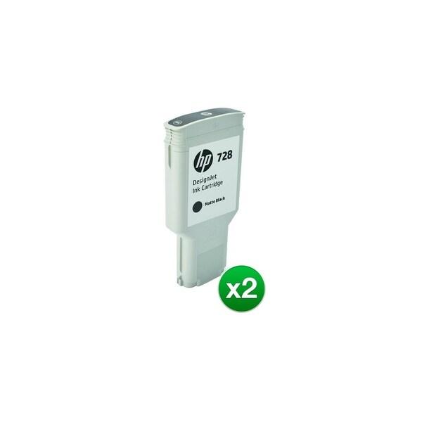 HP 728 300-ml Matte Black DesignJet Ink Cartridge (F9J68A)(2-Pack)