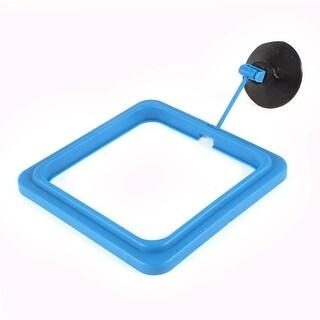 Adjustable Suction Cup Aquarium Fish Food Feeder Feeding Ring Black Blue