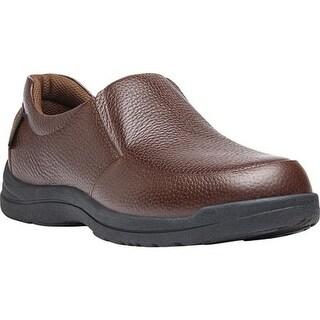 Propet Men's Cruz II Slip On Brown Full Grain Leather