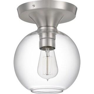Porch & Den Fellars Clear Glass Globe 1-light Semi-flush Mount