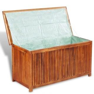 vidaXL Deck Storage Box Acacia Wood - brown