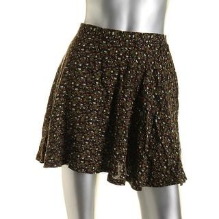 Denim & Supply Ralph Lauren Womens Smocked Floral Print Mini Skirt