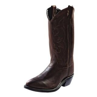 Old West Cowboy Boots Mens Tough Work Narrow Toe Distress TBM3051