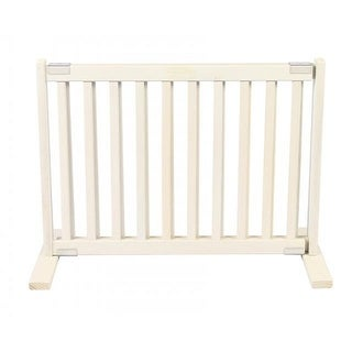Free Standing Pet Gate - Small/Warm White