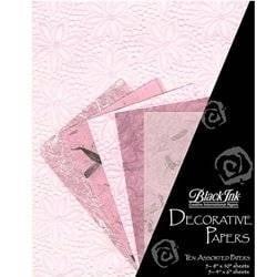 Black Ink - Decorative Paper Pack - Medium - Pretty in Pink