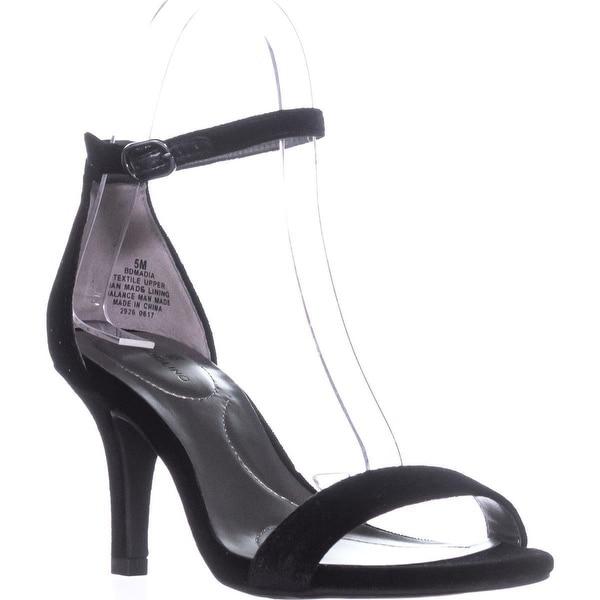 Bandolino Madia Ankle Strap Peep Toe Sandals, Black2