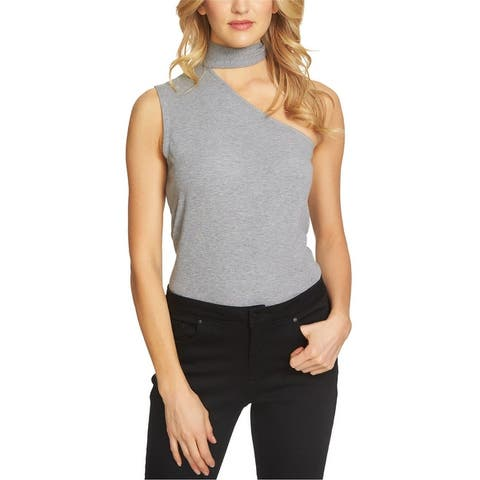 1.State Womens Textured One Shoulder Blouse