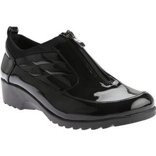 Beacon Shoes Women's Raindrop Shoe Black Patent Polyurethane