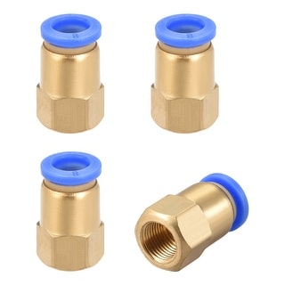 "1/8"" G Female Straight Thread 8mm Push In Joint Pneumatic Quick Fittings 4pcs - 1/8"" G x 8mm"