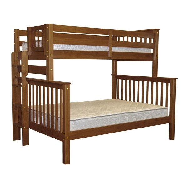 Shop Bedz King Bunk Beds Twin Over Full Mission Style With