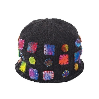 Women's Beanie Hat - Felt Patches Accessories