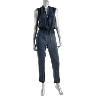 Bella Dahl Womens Jumpsuit Tencel Denim