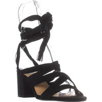 Lucky Brand Idalina Lace-Up Strappy Sandals, Black - 8 us / 38 eu