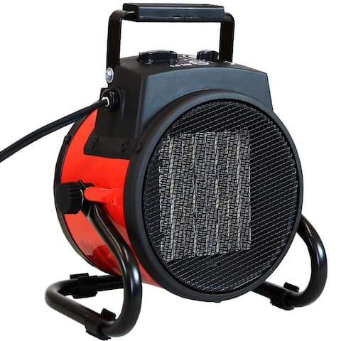 Sunnydaze Portable Ceramic Electric Space Heater - Folding Handle - 750W/1500W