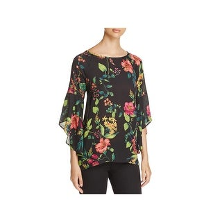 Status by Chenault Womens Tunic Top Crepe Hi Low