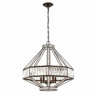 """Eurofase Lighting 31883 Bellezza 5 Light 23-3/4"""" Wide Crystal Chandelier with Crystal Accents"""