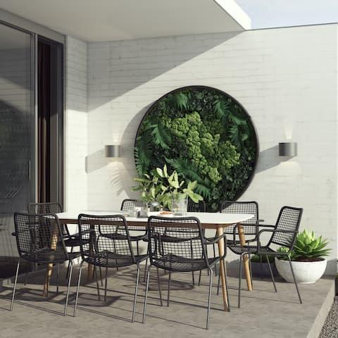 Amazonia Eucalyptus 9-Piece Outdoor Rectangular Dining Table Set