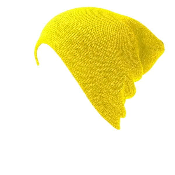 bc12a9e3cac Shop New Solid Winter Long Beanie - Neon Yellow 1pc - Free Shipping On  Orders Over  45 - Overstock - 16948663