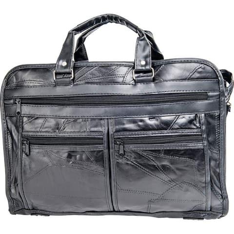 "Maxam® Brand Italian Mosaic Design Genuine Leather Briefcase - 16-1/2"" x 11"" x 5"""