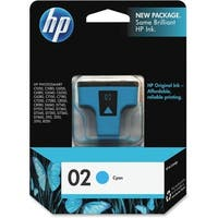 HP 02 Cyan Original Ink Cartridge (C8771WN) (Single Pack)