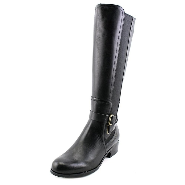 Corso Como Baylee Wide calf Women Round Toe Leather Knee High Boot - 6.5