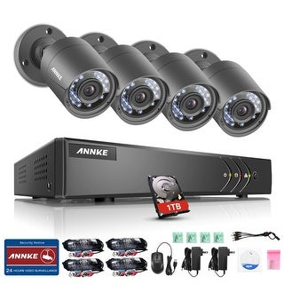 ANNKE 8CH 720P 4 HD Video Surveillance Cameras System