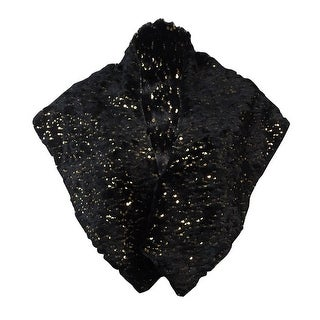 S.L. Fashions New York Women's Sequined Faux Fur Shawl Wrap