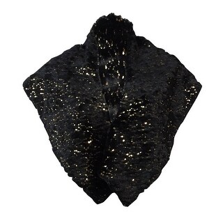 S.L. Fashions New York Women's Sequined Faux Fur Shawl Wrap - OS