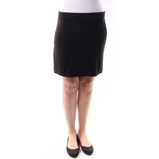 STUDIO M 1175 Womens 1275 Black Above The Knee A-Line Skirt XS B+B