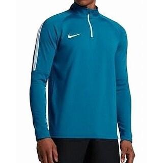 Nike Industrial Blue Mens Size XL 1/2 Zip Mock-Neck Dri-Fit Sweater