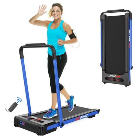 2.5 HP Folding Electric Treadmill With Remote Control&LED Display