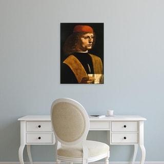 Easy Art Prints Leonardo da Vinci's 'Portrait of a Musician' Premium Canvas Art