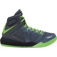 AND1 Men's Overdrive Basketball Shoe Castlerock/Green/Black