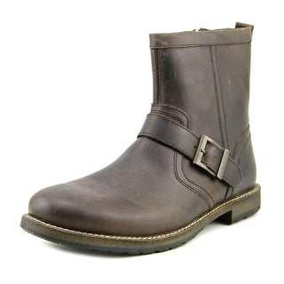 Crevo Carston Men Round Toe Leather Brown Boot