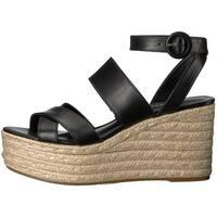 Nine West Womens Kushala Leather Open Toe Casual Platform Sandals