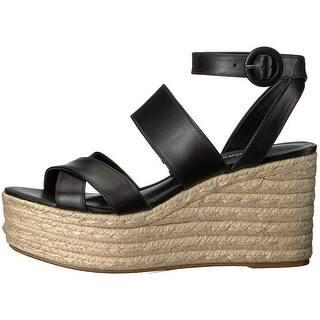 665c10e88bc7 Nine West Womens Kushala Leather Open Toe Casual Platform Sandals