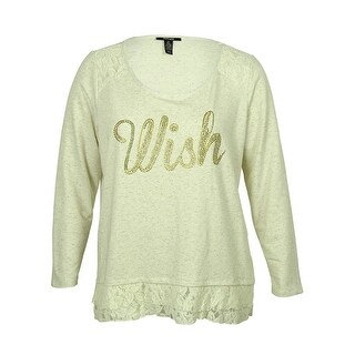 Style & Co Women's Studded Lace Hem Sweater