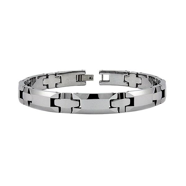 Tungsten Carbide Men's Link Bracelet (9mm Wide) 8.5 Inches