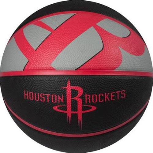 new style 34cb1 1c852 Spalding NBA Courtside Houston Rockets Outdoor Rubber Basketball Size 7  (29.5